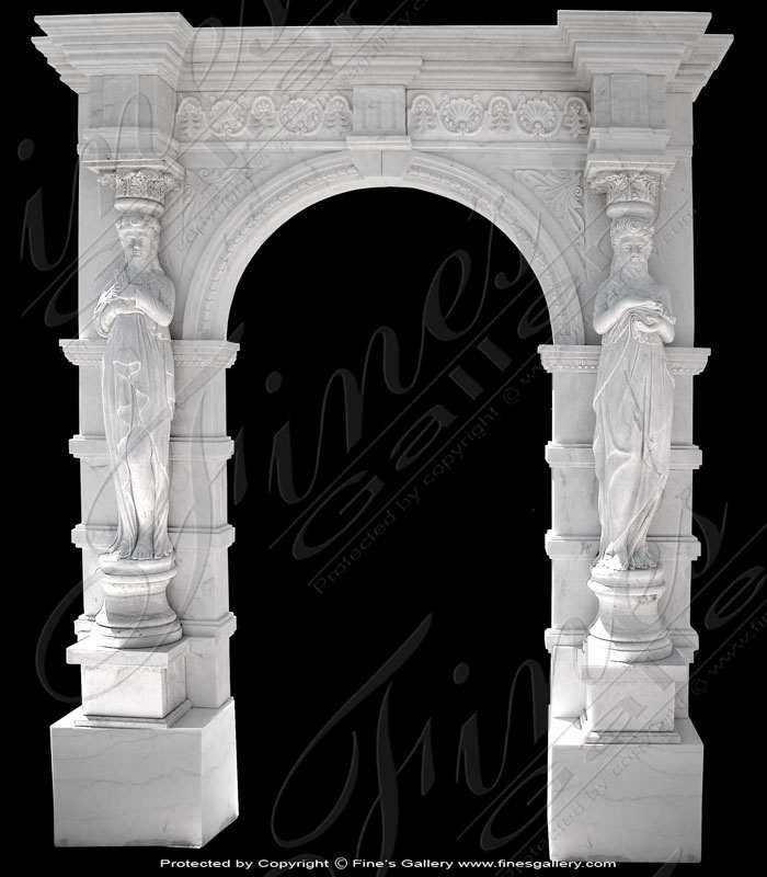 Marble Doorways  - White Marble Doorway - MD-114