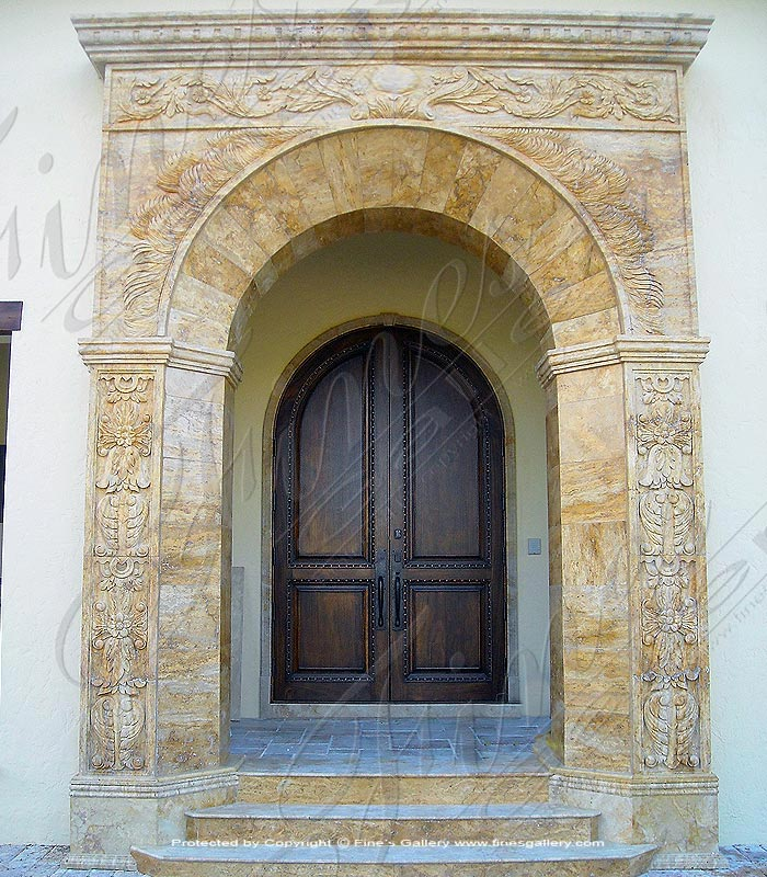 Marble Doorways  - Majestic Gold Marble Doorway - MD-140