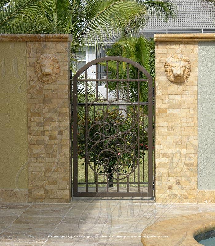 Marble Doorways  - Lion Head Marble Doorway - MD-141