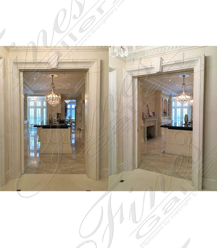 White Marble Door ...  sc 1 st  Fine\u0027s Gallery & Marble Doorways | Beautiful Designs from the World Leader