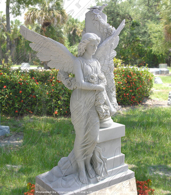 Search Result For Marble Memorials  - Angel, Base & Ledger Memorial - MEM-417