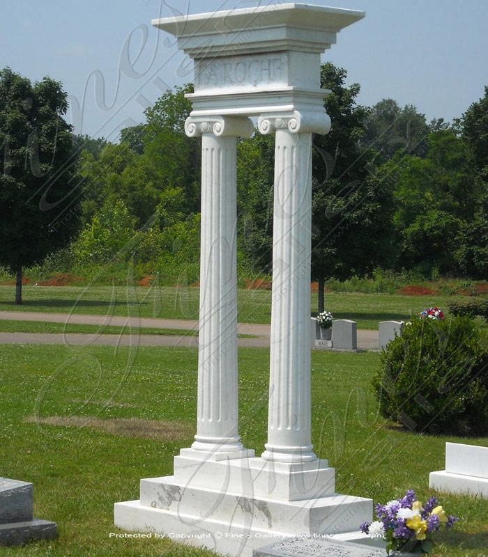 Marble Memorials  - Marble Cross Monument - MEM-446
