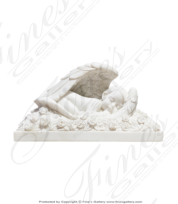 Infant Rose Bed Marble Memorial