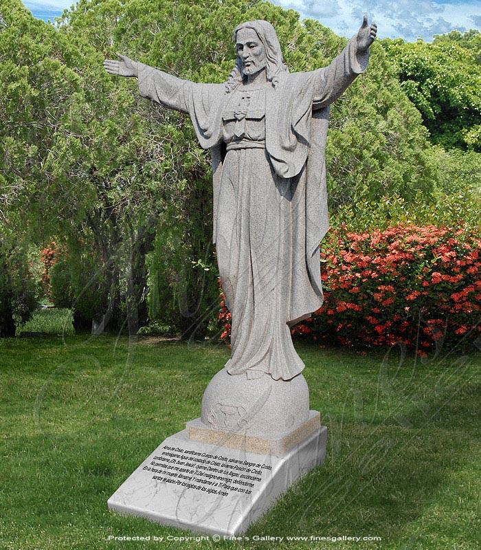 Marble Memorials  - Granite Memoria Of Jesus Christ - MEM-293