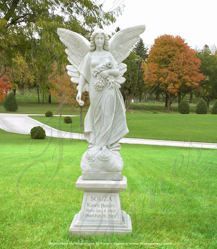 Search Result For Marble Statues  - Beautiful Marble Angel Statue - MS-500