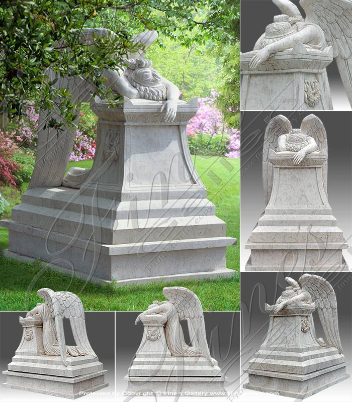 Perlato White Weeping Angel Memorial
