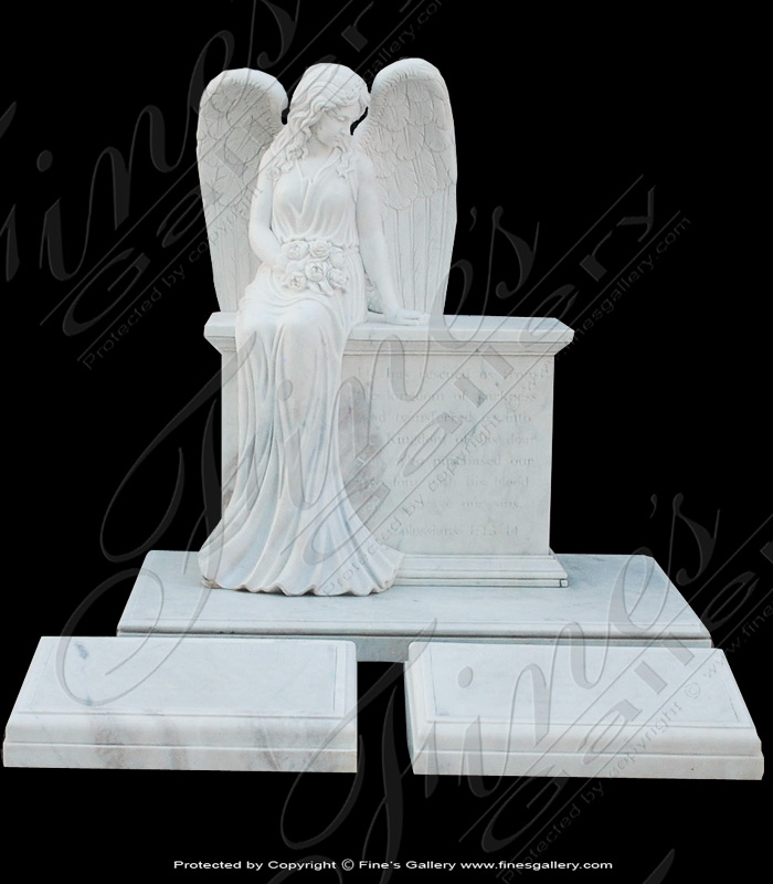 Search Result For Marble Memorials  - Beloved Angel Marble Monument - MEM-333