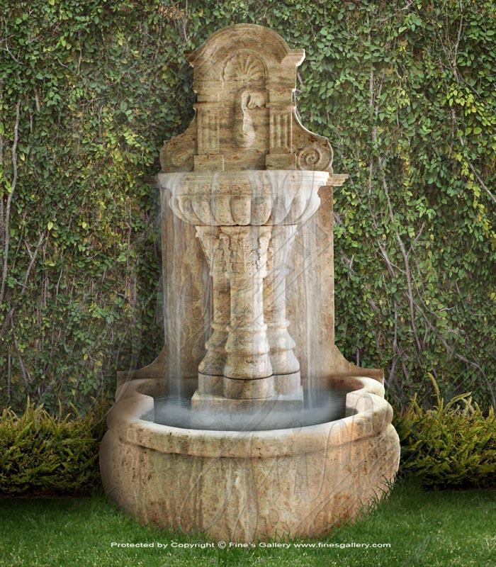 Tuscan Villa Travertine Wall Fountain