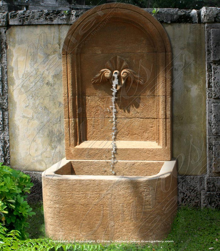 Marble Fountains  - Rustic Marble Wall Fountain - MF-1067