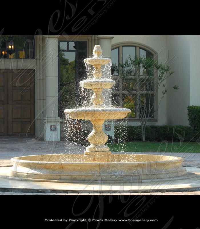 Coral Gables Travertine Motor Court Fountain