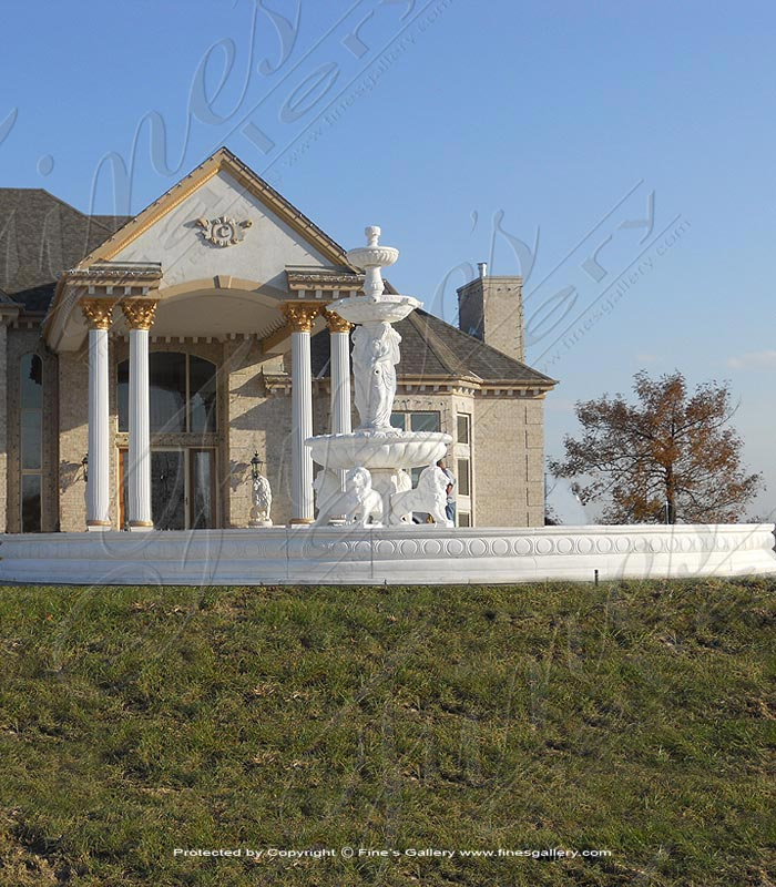 Marble Fountains  - Monumental White Marble Fountain - MF-1147