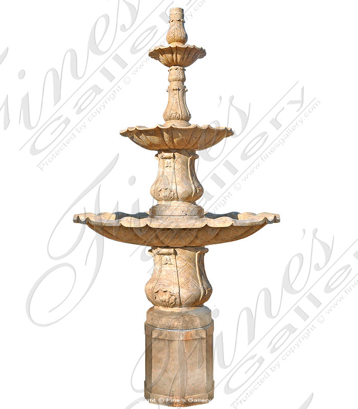Search Result For Marble Fountains  - Palm Beach FL Cream Marble Fountain Feature - MF-948