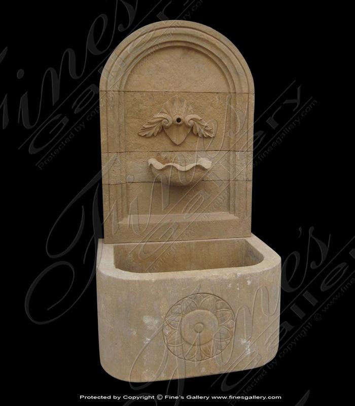 Elegant Marble Wall Fountain