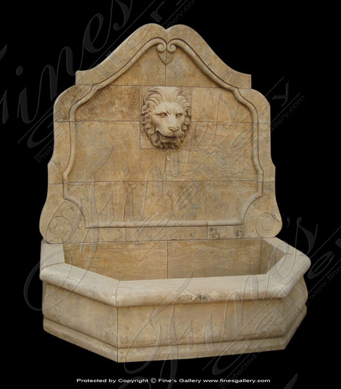 Marble Fountains  - Tuscan Cream Garden Fountain - MF-1653