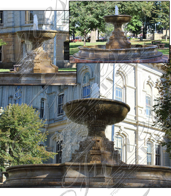 Antique Gold Granite Fountain