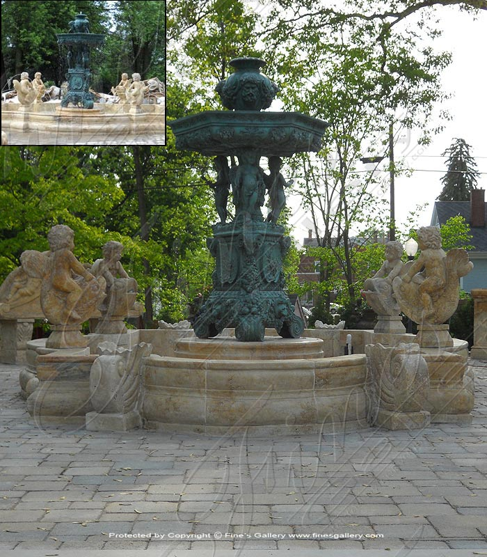 Marble with Bronze fountains