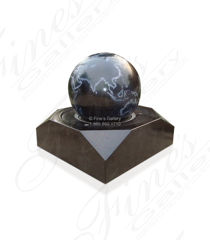 Marble Fountains  - Black Granite Sphere - MF-1222