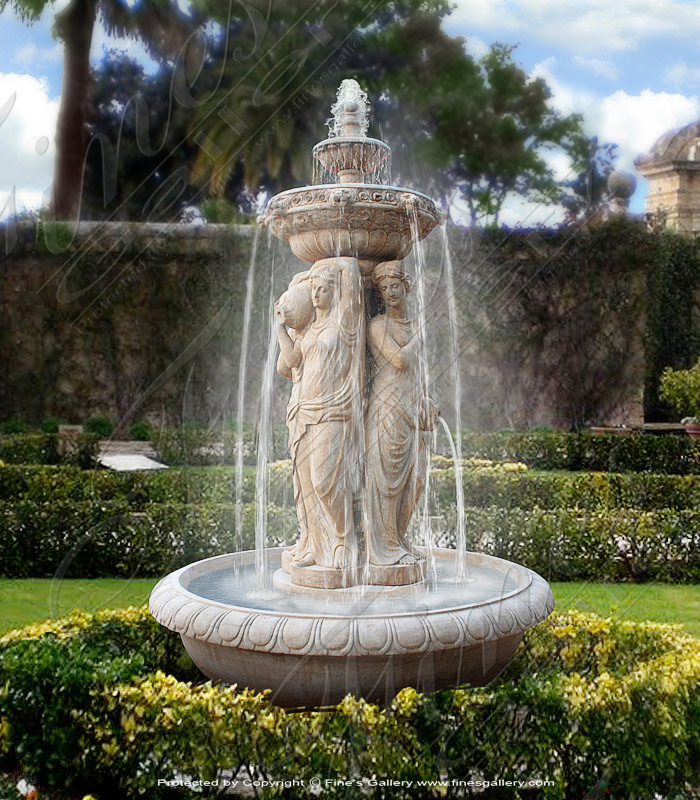 Marble Fountains  - Four Seasons Marble Fountain - MF-1342