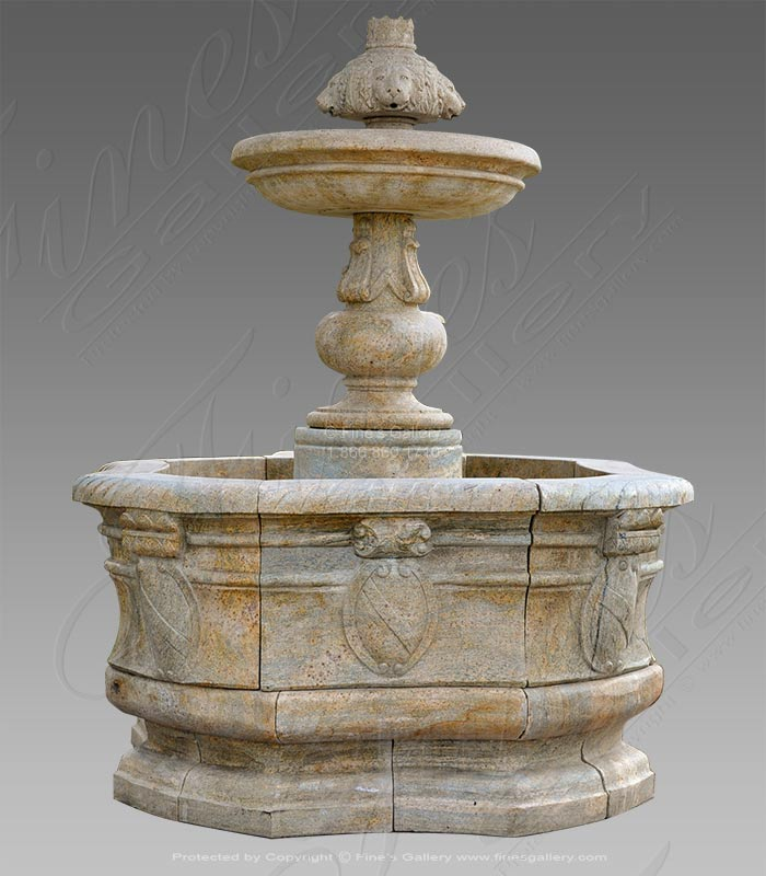 Majestic Lion Fountain - Marble Fountain Pedestal
