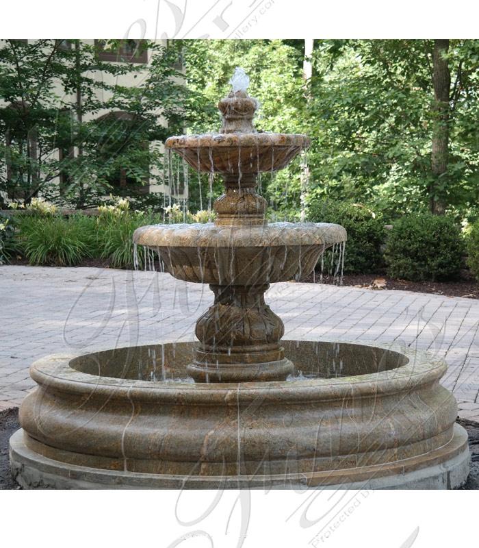 Marble Fountains  - Verona Granite Courtyard Fountain - MF-1272