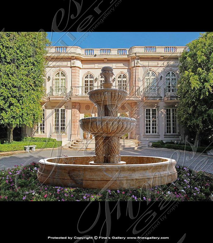 Marble Fountains  - Luxury Motorcourt Granite Fountain - MF-1580