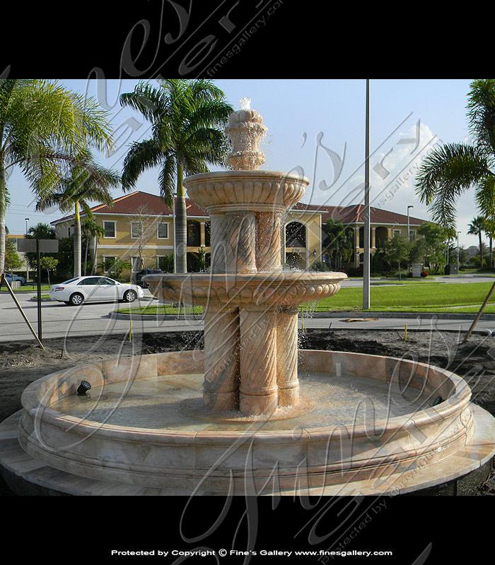 Spiral Column Marble Fountain