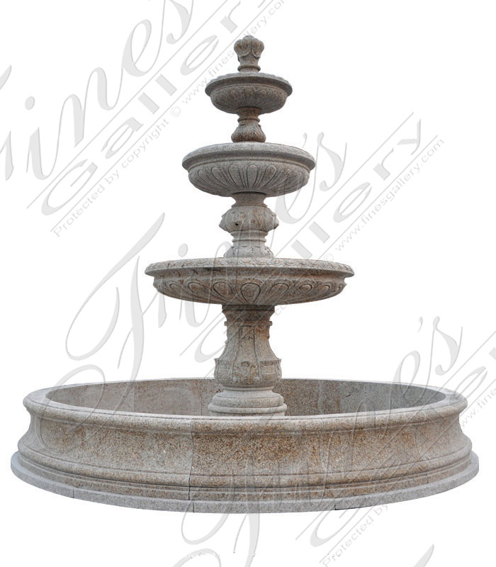 Marble Fountains  - Tiered Versailles Marble Fountain - MF-238