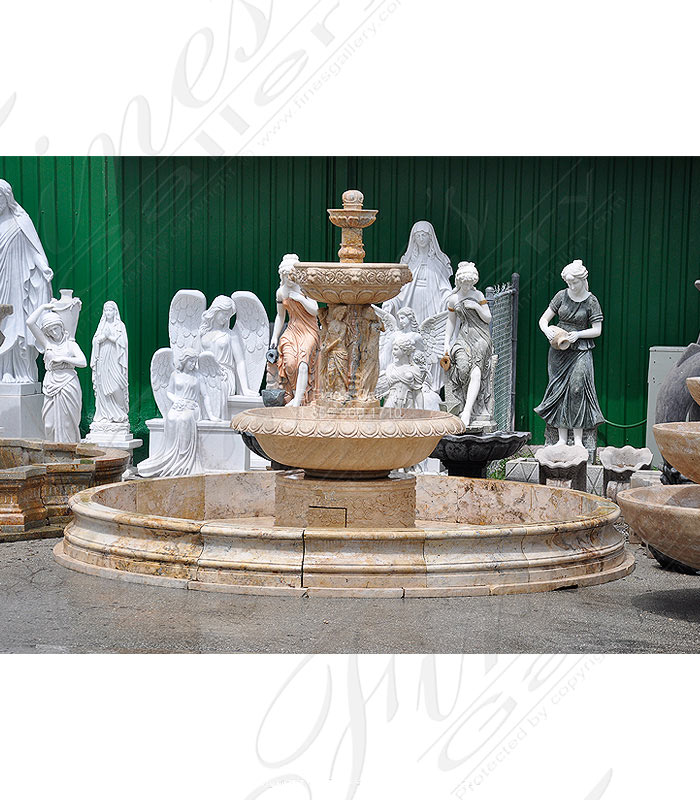 Marble Fountains  - Antique White Fountain - MF-1458