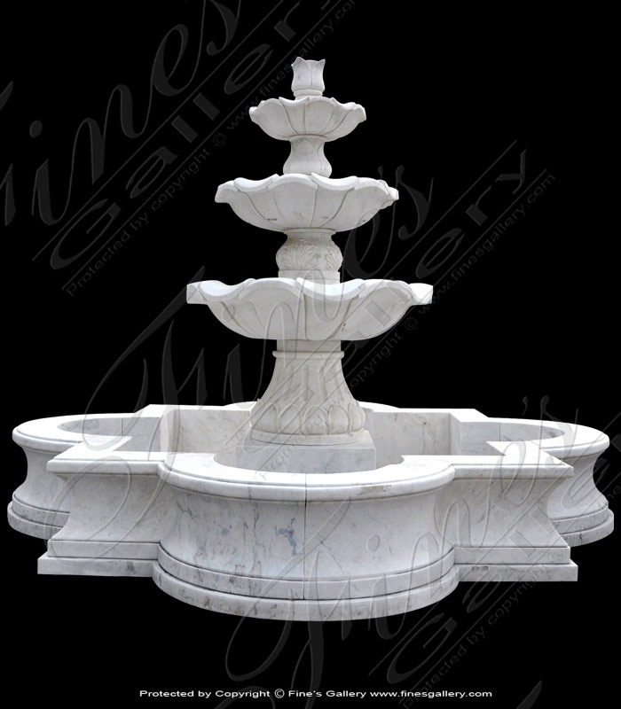 Marble Fountains  - Venice Peach Marble Courtyard Fountain - MF-1391