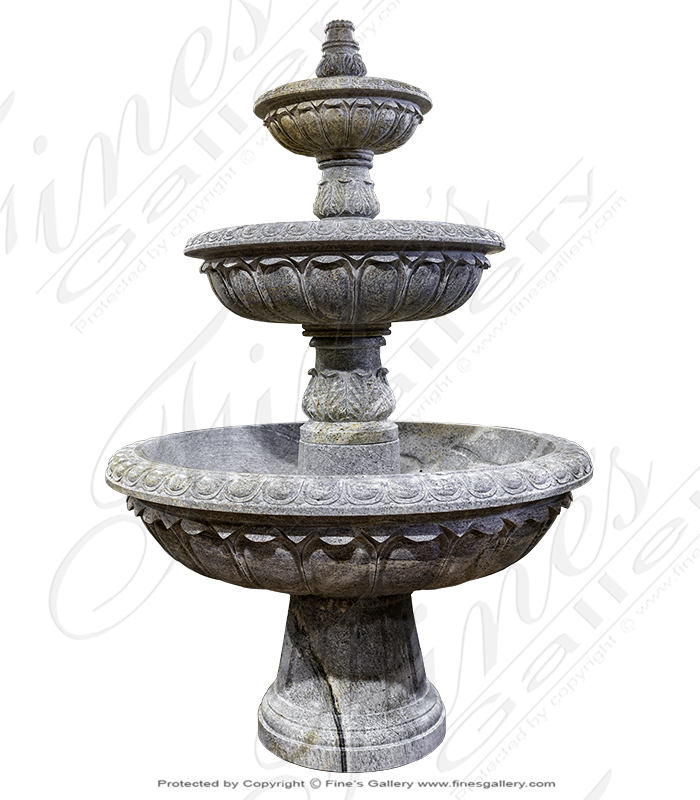 Classic Granite Garden Fountain XL
