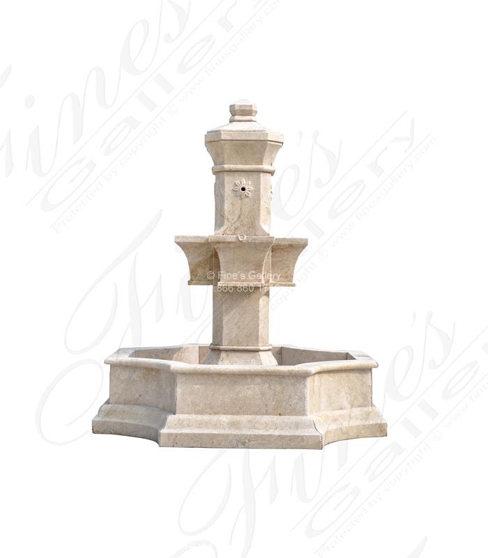 Marble Fountains  - Mediterranean Garden Fountain - MF-1379