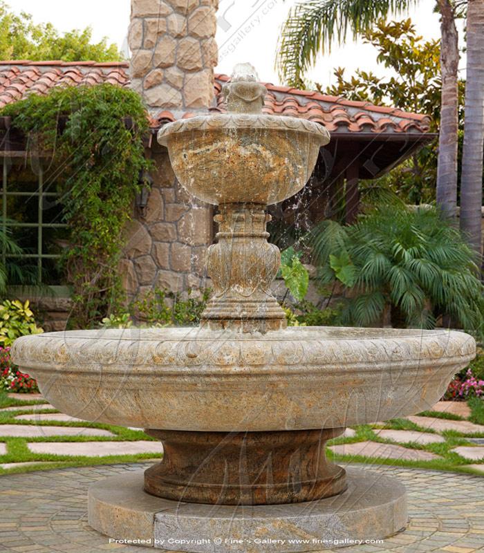Marble Fountains  - Black Granite Fountain - MF-1527