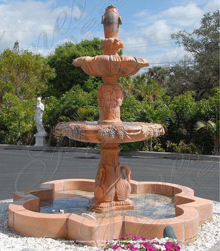 Lavish Grape & Swan Fountain
