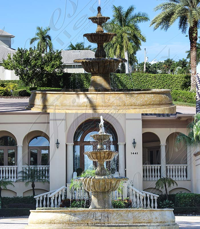 Marble Fountains  - Massive Granite Fountain - MF-1453