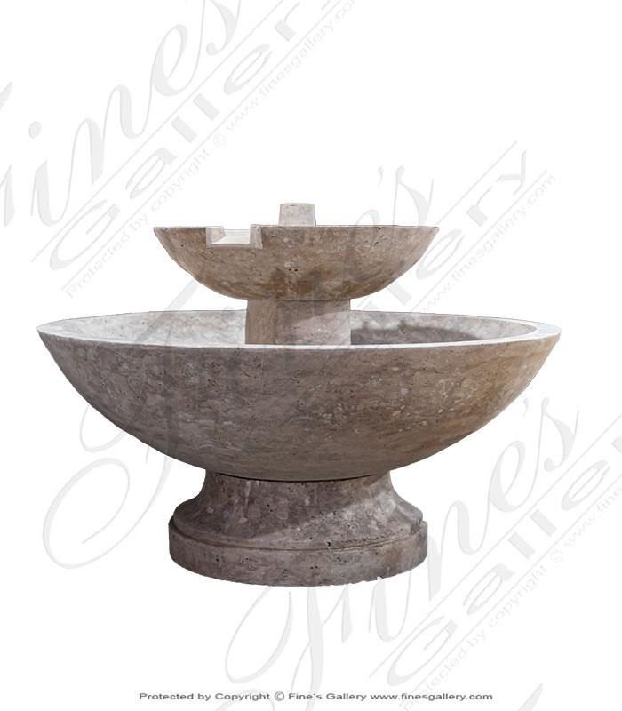 Contemporary Travertine Fountain