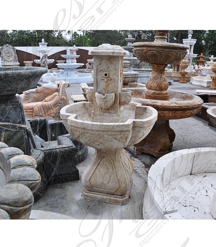 Fleur De Lis Marble Fountain