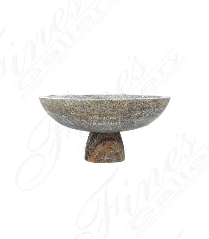 One Tier Fountain Bowl in Solid Granite