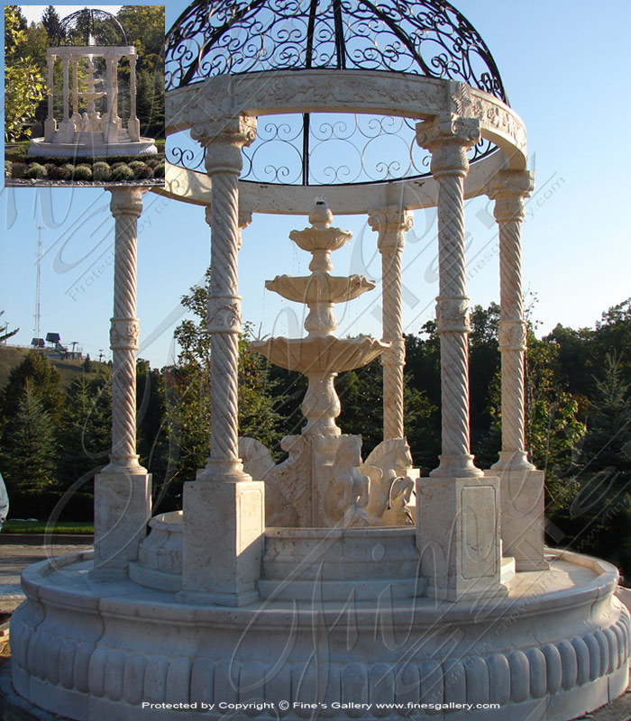 Extra Large Outdoor Fountain in Antique Marble