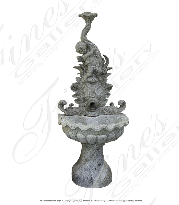 Marble Fountains  - Cherub Wall Fountain - MF-1562