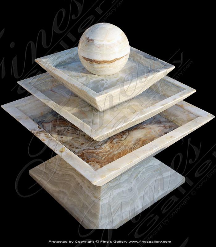 Marble Fountains  - Onyx Sphere Fountain - MF-1573