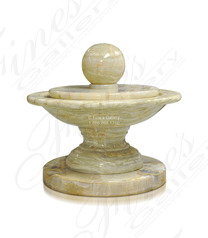 Marble Fountains  - Polished Travertine Fountain - MF-1708