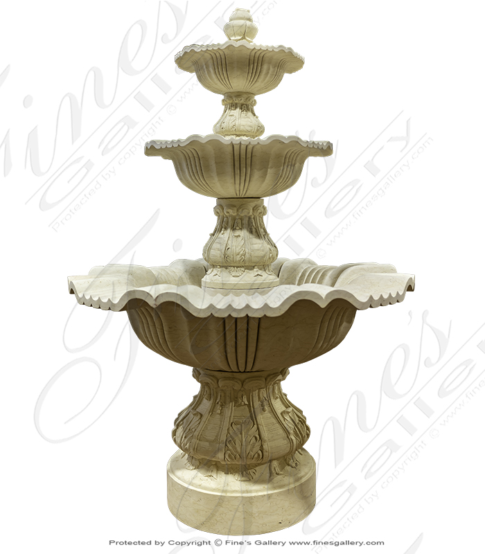 Refined Cream Marble Fountain