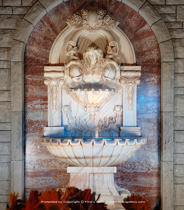 Rosetta Marble Wall Fountain