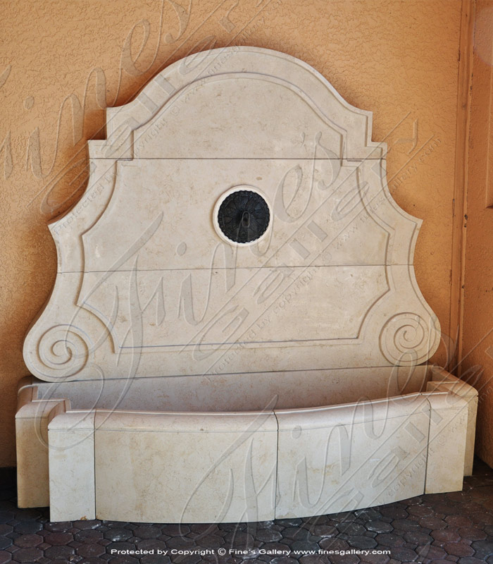 Marble Fountains  - Seashell Marble Wall Fountain - MF-1166