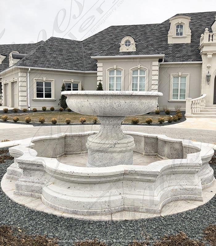 Athens White Granite Courtyard Fountain