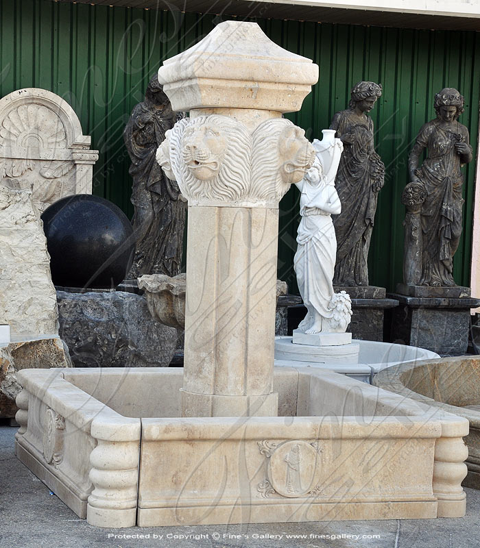 Italian Villa Travertine Fountain