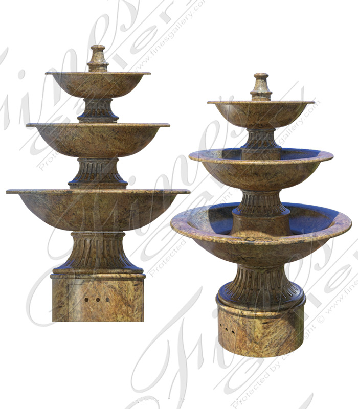 Marble Fountains  - Contemporary Black Granite Fountain - MF-1656