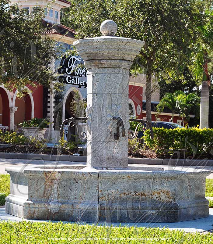Rustic Italian Villa Granite Fountain