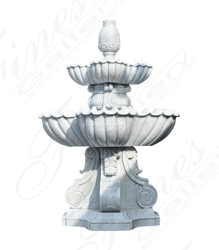 Marble Fountains  - Luxurious White Marble Fountain - MF-1686