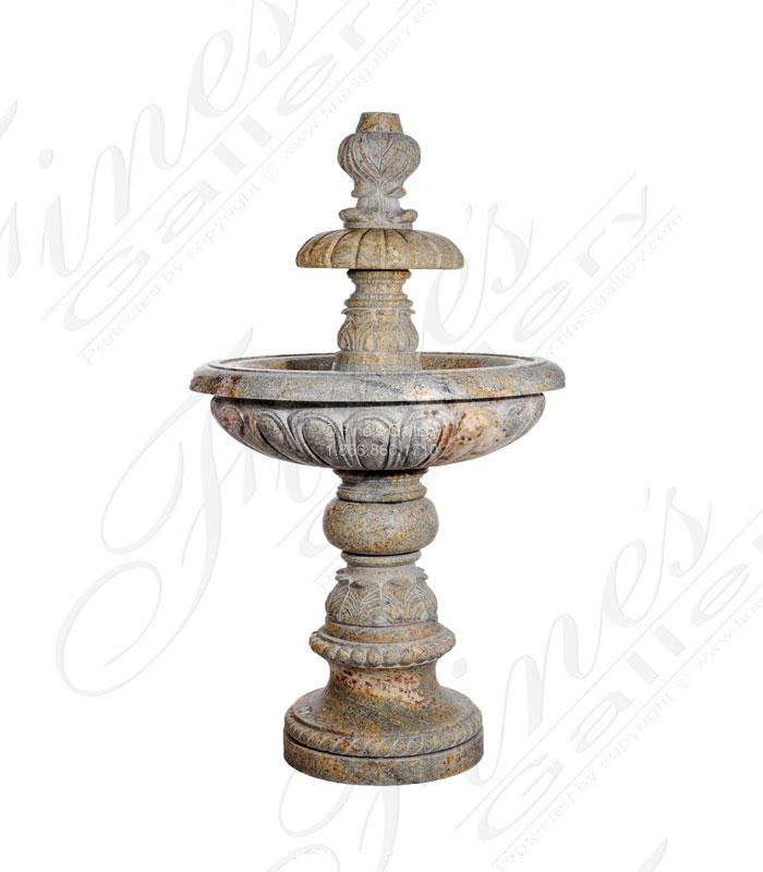 Granite Fleur De Lis Fountain